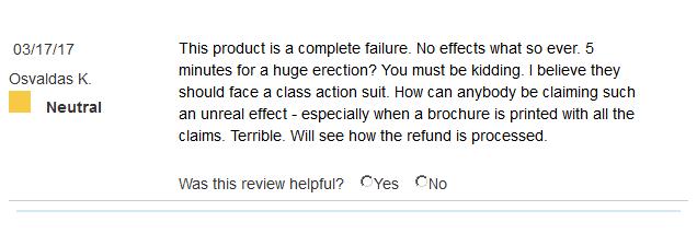 Erectone Premium customer review