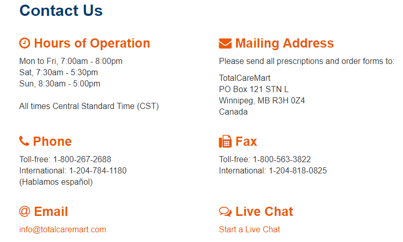 Total Care Mart Contact Information