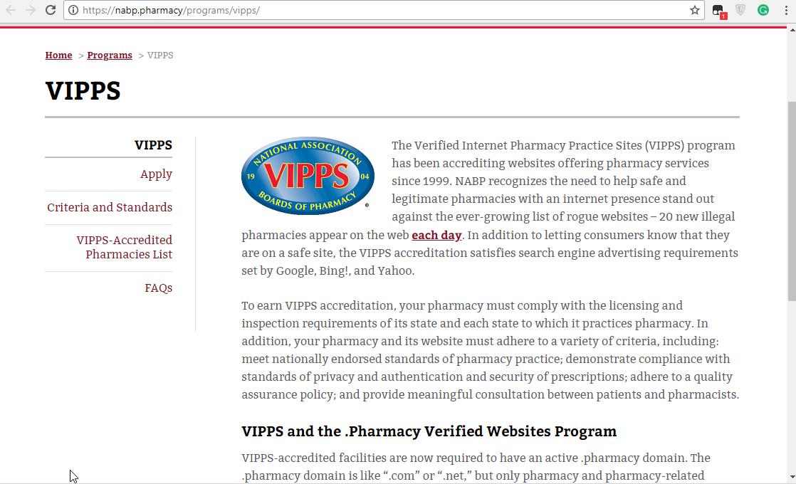 VIPPS Online Pharmacy