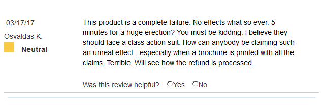 Erectone Premium customer review