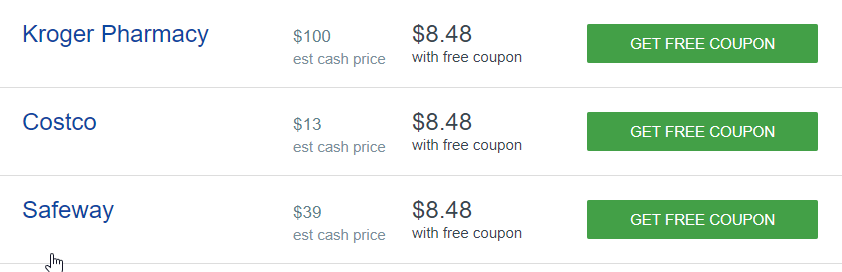 Good Rx Tramadol Cost