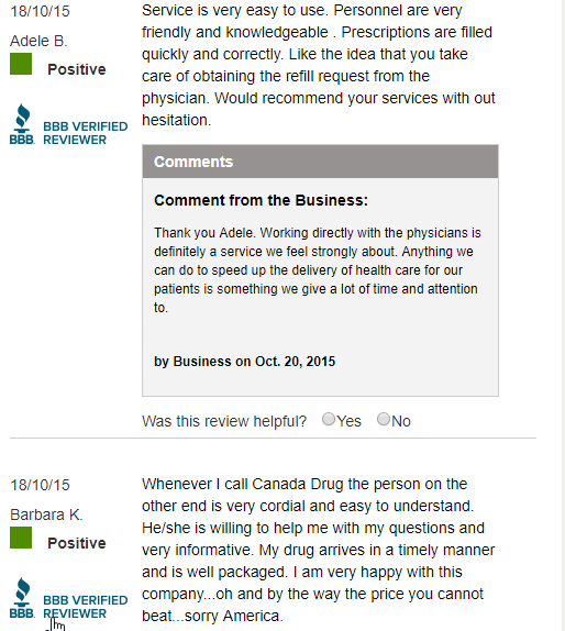 Canada Drugs Reviews (source: https://www