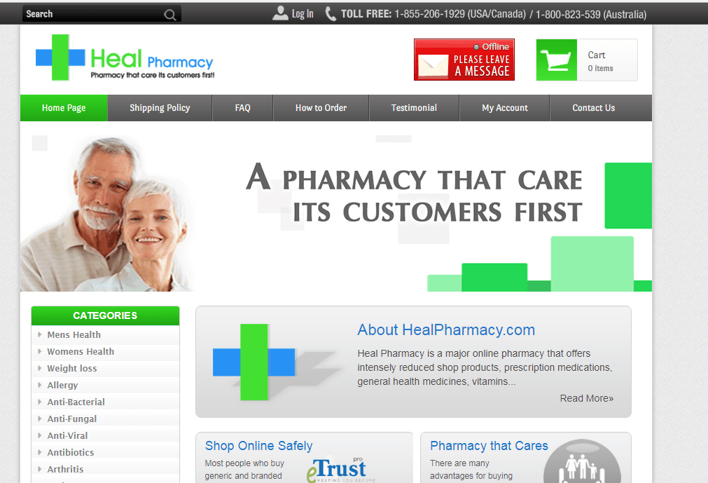 Heal Pharmacy – A Reliable Pharmacy Site That Delivers Quality Meds