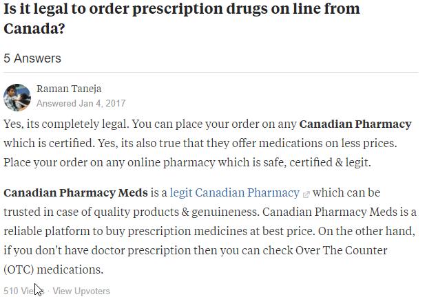 Canadian Prescriptions