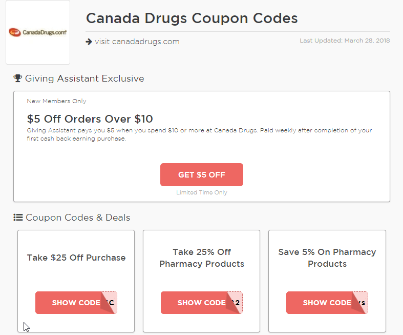Canada Drugs Coupons