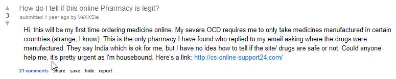 Reddit Legitimate Pharmacies