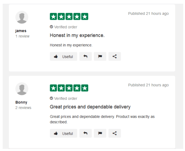Customer Reviews on Reliable Rx Pharmacy Online